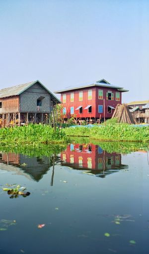 Myanmar - Inle Lake Birmanie Myanmar Inle Lake Architecture Built Structure Building Exterior House Water Stilt House An Eye For Travel No People Outdoors Clear Sky Sky Day