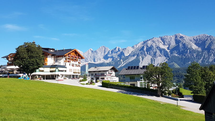 Austria Austria ❤ Austrian Alps Beauty In Nature Blue Grass House Landscape Mountain Mountain Range No People Outdoors Rohrmoos Sky Tree