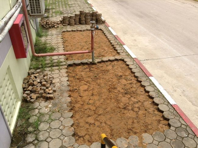 Concrete Blocks Day No People Outdoors Walkway