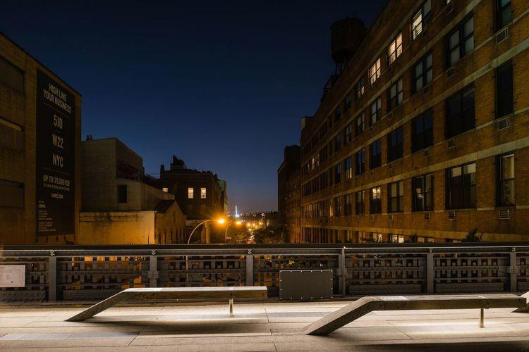 Architecture Building Exterior Cities At Night City City Life High Line Park New York New York At Night New York Skyline  Night NYC Outdoors Sky USA USAtrip The Architect - 2016 EyeEm Awards