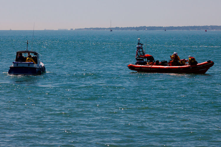 Another Rescue By The RNLI RNLI Fishing Boat Mode Of Transportation Nautical Vessel Real People Rippled Sailing Sea Transportation Water Waterfront