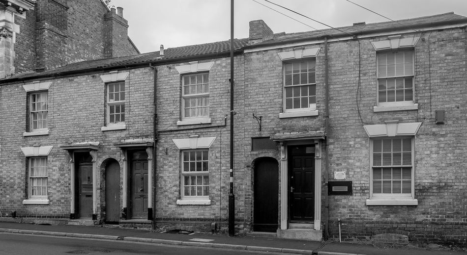 Railway workers cottages, Railway Terrace, Rugby, Warwickshire Monochrome Warwickshire Rugbytown FUJIFILM X-T10 Rugby Black And White Architecture Railway