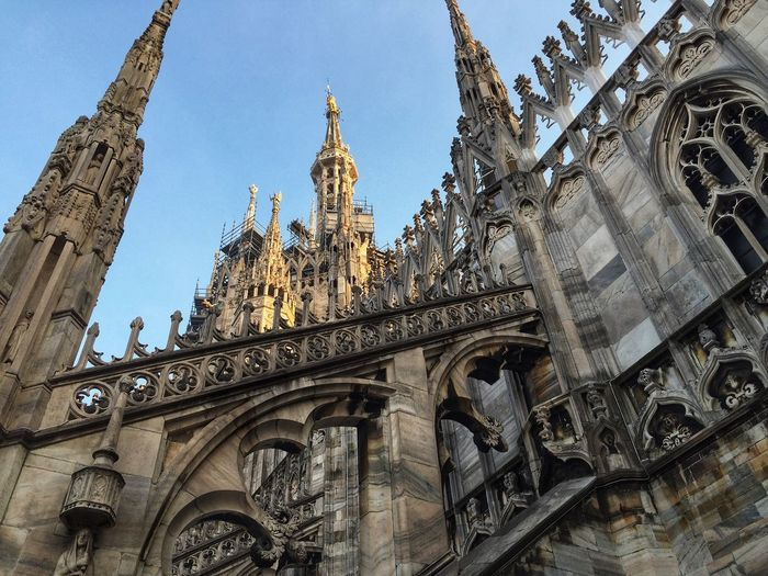 Architecture Place Of Worship Building Exterior Religion Low Angle View History Church Travel Destinations Duomo Duomo Di Milano Cathedral Sculpture Monuments