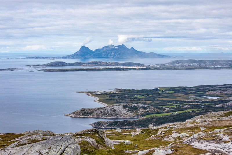 Autumn Hiking Northern Norway Norway Smoking Beauty In Nature Bodø Clouds Day Fall Fjord Island Landscape Mountain Nature No People Nordland County Outdoors Scenery Scenics Sea Sky Summit View Village Water