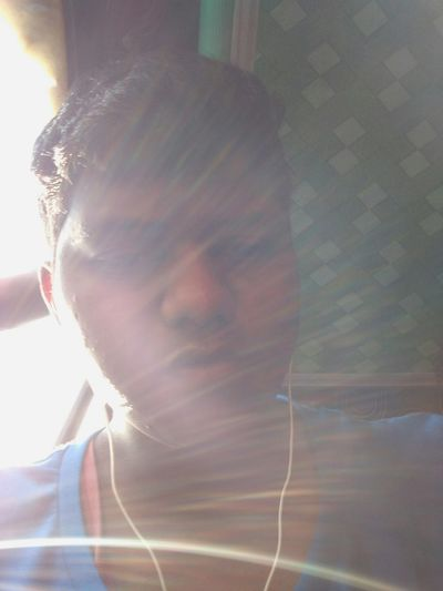 Sun is reflecting rays ... Here iam captured in selfie