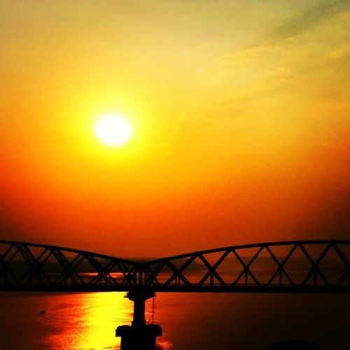 Sunset Water Reflection Goa bridge instagoa ngma2014 mdclicks nexus5 netgeo india_gram india