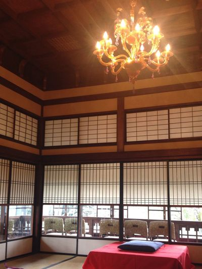 Indoors  Architecture Built Structure Transportation Illuminated Car Ceiling Travel Destinations Architectural Feature Tourism History City Life Vacations Government Japanese-style Room