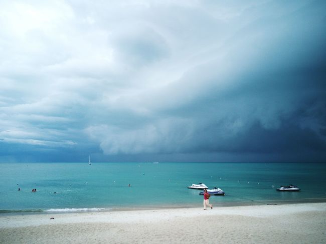 PhonePhotography P9 Huawei Huwawie P9 Clouds Beach Ko Samui Sea Thailand Sand Water Sea Beach Sand Summer Beauty Relaxation Blue Multi Colored Sky Storm Cloud Seascape Thunderstorm Dramatic Sky Cyclone Coastline Storm Atmospheric Mood The Great Outdoors - 2018 EyeEm Awards