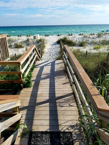 Ocean Sand Beach Beachphotography PCB, Florida PCB Panama City Beach Pathway Porch Saltwater Fence Shore Summer Views Walking To The Sea Sea And Sky Footprints In The Sand Driftwood Evening Emeraldcoast Feel The Journey Summer Florida Gulf Of Mexico Shootermag Fine Art Photography