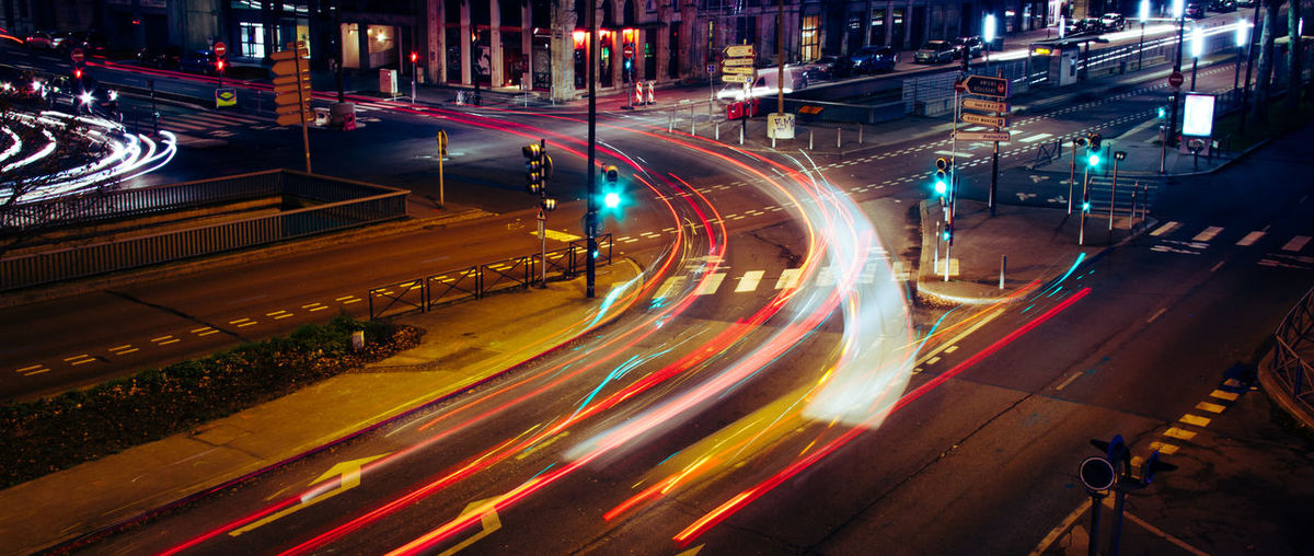 Night Nightphotography Car Long Exposure City City Life Road Light Night Lights Nightlife Light Trail Motion Transportation Illuminated Street Speed Architecture Traffic Building Exterior High Angle View City Street Mode Of Transportation Sign Built Structure Motor Vehicle No People Cityscape