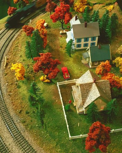 Check This Out Model Town Taking Photos Autumnal Town Toy Train