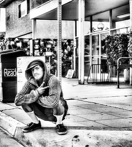 Picturing Individuality Ob man on the streets Homeless Man Enjoying Life Black And White Photography Blackandwhite Photography Ocean Beach