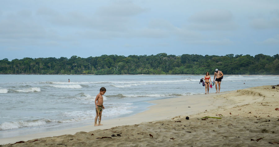 Cahuita National Park Costa Rica Beach Beauty In Nature Cahuita Day Enjoyment Friendship Fun Leisure Activity Lifestyles Nature Outdoors People Real People Sand Scenics Sea Shore Togetherness Vacations Walking Water