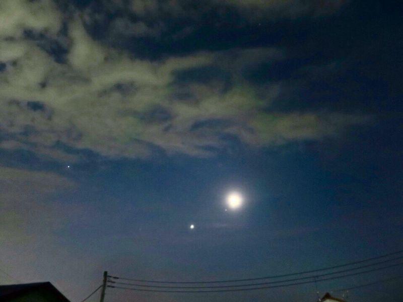 おはようございます。 Moon Star 夜明け前 Canon S120 おはよう 朝 Morning