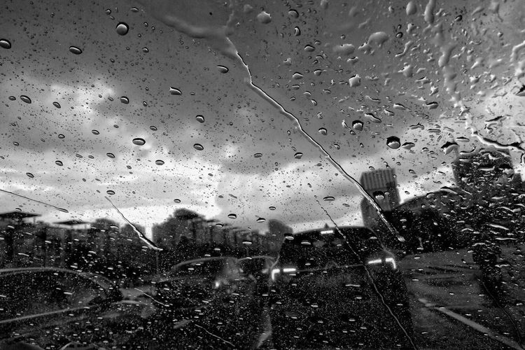 The prelude to the storm Drop Wet Glass - Material Window Transparent Rain Full Frame Indoors  City Backgrounds Rainy Season Nature RainDrop Humanity Meets Technology