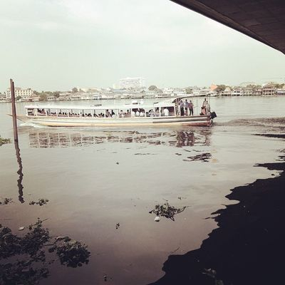 Moring Boat Traffic River Bangkok Thailand Life Picture Thaionly