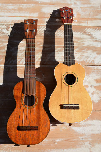 Two soprano ukuleles Choice Guitar Indoors  Music Musical Instrument No People Stringed Instrument Strings Two Uke Ukulele Lieblingsteil