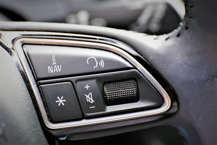 Selective Focus Push Button Focus On Foreground Control Panel Vehicle Interior Indoors  Technology Transportation Mode Of Transportation Motor Vehicle Close-up No People Car Silver Colored Land Vehicle Car Interior Day