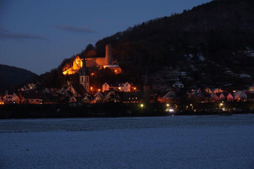 Scherenburg, Gemünden am Main, City Night Nightphotography No People Tree Gemünden Gemünden Am Main City