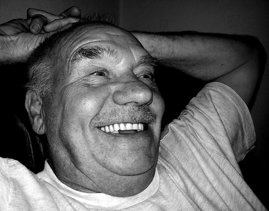 Funny. Man Laughing Funny Black And White Humour Pensioner Elderly People Face Smiling Face B&W Portrait Jolly Man's Face Happiness Happy People