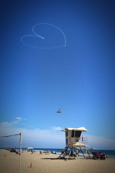 Skywriter's heart Skywriting beach Vacation Summer Heart