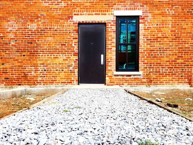 Oklahoma City. A walk around Midtown Architecture Door Building Exterior Built Structure Brick Wall Day No People Outdoors Window Oklahoma Okc Brick Black Red First Eyeem Photo