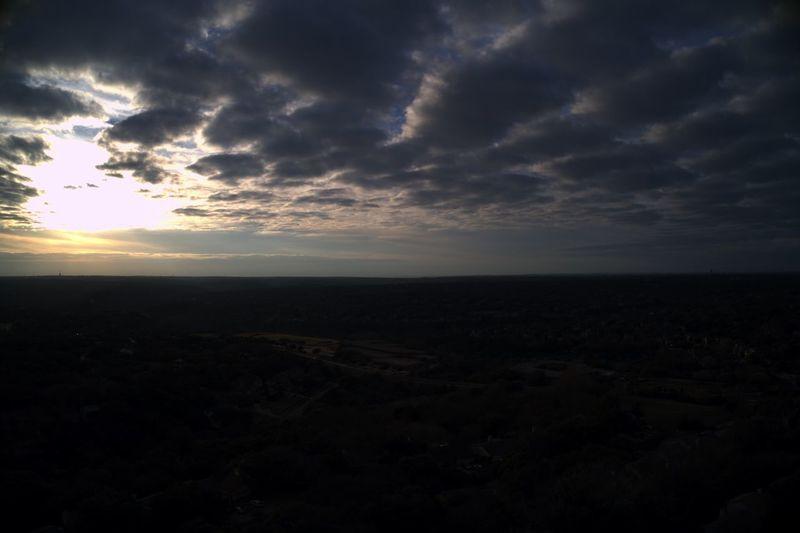 Austin Austin Texas Austin, TX Cloudy Dark Weather Aerial Landscape Sunset