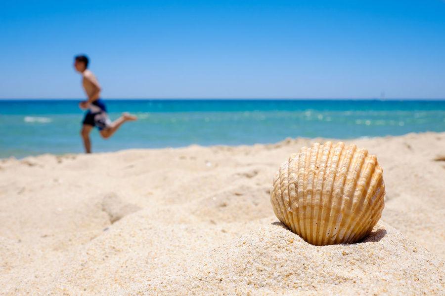 Beach Blue Peaceful Portugal Run Sand Sea Seashell Summer Vacations Fujifilm FUJIFILM X-T1