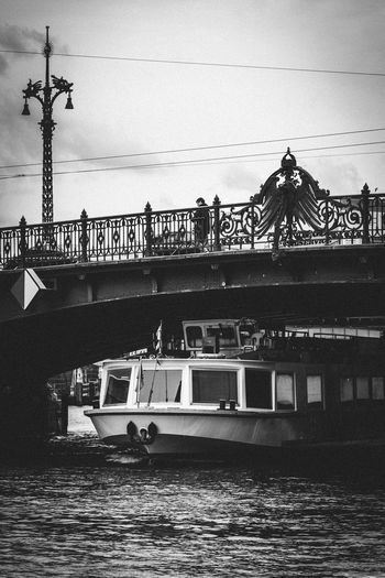 Architecture Blackandwhite Photography Boat Boot Bridge Connection Eagle Eye4photography  EyeEm EyeEm Best Edits EyeEm Best Shots EyeEm Best Shots - Black + White EyeEm Gallery EyeEmBestPics Lamppost Outdoors Sightseeing Spree Spreeboot Tourism Water Urban Exploration Monochrome Photography Capture Berlin Adapted To The City The City Light