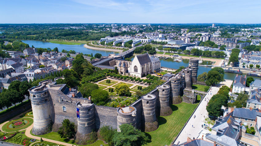 Aerial view on Angers castle and La Maine river, in Maine et Loire, France Aerial Photography Aerial View Angers Architecture Castle Church Château Cityscape Ducs D'anjou Dungeon EyeEm Best Shots EyeEm Selects Fortifications Fortified Wall France Historical Building Historical Monuments La Maine Landscape Maine Et Loire Medieval Castle River Royal Towers Walls