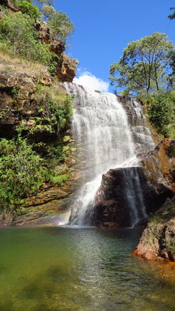 One more from paradise. Beautiful Day Beauty In Nature Bluesky Cachoeiras  Chapada Imperial Destinosbrasileiros Flowing Water Lagoon Motion Mountain Nature Naturewalk  No Edit No Filter The Great Outdoors With Adobe Qualquer Lugar Rock Formation Sunny Day Tranquil Scene Tranquility Travel Trilhas Water Waterfall Colour Of Life