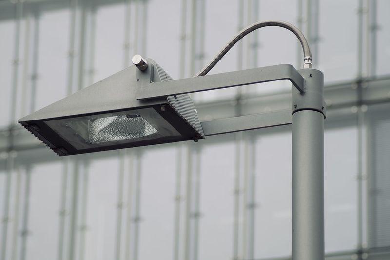 Low angle view of street lantern