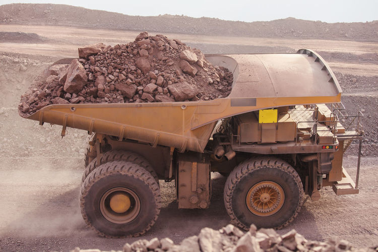 Mining Activity, mining dump truck Chile Earth Heavy Industrial Industry Minerals Road Copper  Day Dump Dump Truck Earth Mover Full Loading Mine Mineral Mining Mining Industry Outdoors Quarry Quarry Rock Side View Truck Up Vehicle