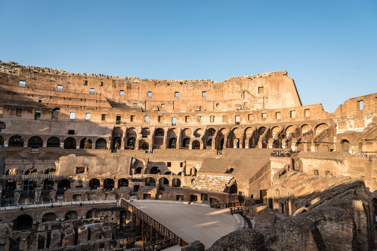 Colosseum in ROme Ancient Anphitheater Colosseo Empire Rome Travel Amphitheater Ancient Ancient Architecture Ancient Civilization Arch Archaeology Architecture Built Structure Colosseum Day History Landmark Old Ruin Outdoors Sky The Past Tourism Travel Travel Destinations