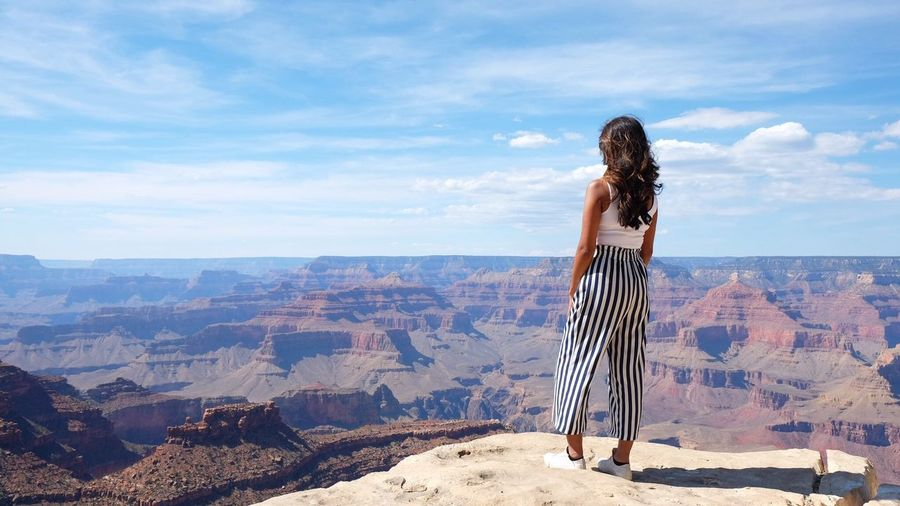 Grand Canyon Grand Canyon EyeEm Selects One Person Sky Leisure Activity Standing Real People Nature Women Landscape Hair Long Hair