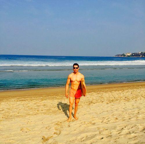 Surfing in a beautiful beach in Oaxaca Mexico, nice weather. Sea That's Me Enjoying Life Enjoying The Sun Beach