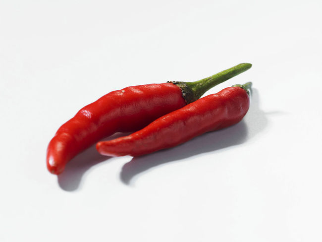 chili padi or bird's eye chili Birds Eye Chili Chili Padi Red Spicy Chili  Chili  Chili Pepper Close-up Food Food And Drink Freshness Healthy Eating Indoors  Ingredient No People Pepper Red Chili Pepper Spice Still Life Studio Shot Vegetable White Background