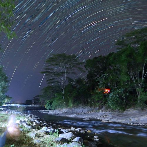 Startrail  Bahorok River Bukitlawang NorthSumatra Night @klikarbain @arbainrambey Travelingindonesia