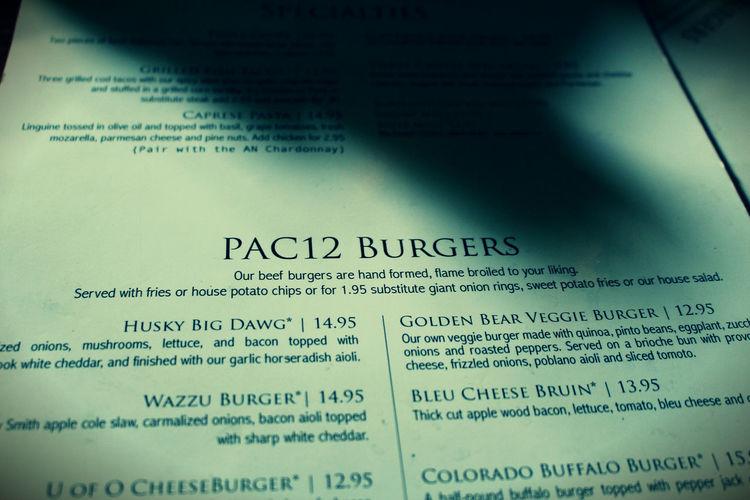 Burgers CheeseBurger College College Food College Football Football Food PAC 12 Restaurant Adventure Seattle Food