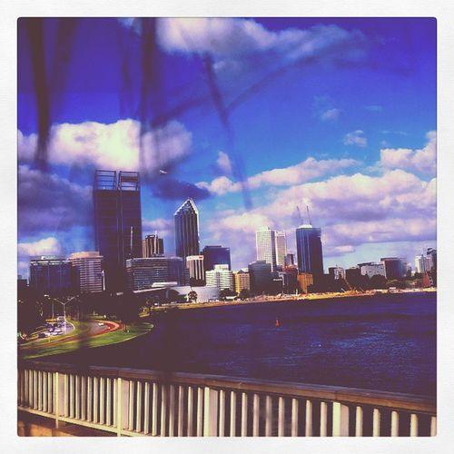 The city thru bus window graffiti. Perthcity Perthlife Perthisok Buslife graffiti windowtag cityviews narrowsbridge