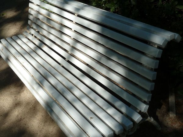 Bench Botanical Gardens Botánico Jardin Madrid Spain Park Bench Royal Summer Light And Shadow Mint Green