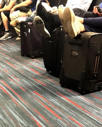 Tired feet Creative Tired Flight Airplane Indoors  Suitcase Transportation Rail Transportation Day