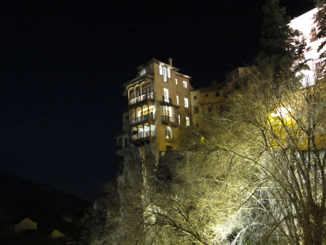 Cuenca Night Photography Casas Colgantes Taking Photos