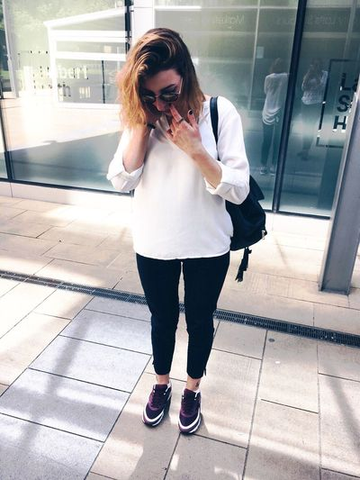One Person Real People Lifestyles Young Women Nike Nikewear Air Max Nike Air Max Footwear Sneakerhead  Sneakers Trainers Shoes Sheffield Tattoo Minimal City Outdoors Outfit Outfit #OOTD Outfitoftheday