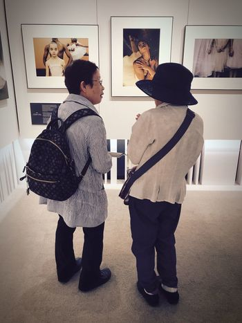 Two People Indoors  Togetherness Standing Real People Full Length Old Ladies Talking Holiday - Event Lifestyles Friendship Day Halloween Young Adult Adult People Fujifilm Photography Photo Exhibition Senior Adult Passion For Photography Tokyo Tokyo,Japan Tokyo Street Photography Shotoniphone7 Japan