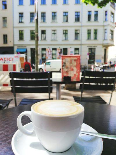 Coffee time. Straße Berlin Germany Building Straße Streetfood Colorful Color Street City Mocha Frothy Drink Drink Cappuccino Latte Froth Art Cafe Table Coffee - Drink Hot Drink Cafe Macchiato Caffeine Black Coffee Cafe Culture Coffee Beverage Hot Chocolate Espresso