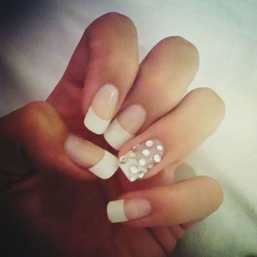Simple elegance ?? Nails Check This Out Elegance Is The Only Beauty That Never Fades.
