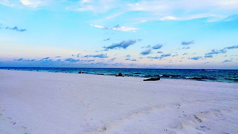 Beach Sand Sea Cloud - Sky Sky Tranquility Nature Horizon Over Water Landscape Summer Outdoors Tranquil Scene Vacations Sunset Travel Destinations Blue Backgrounds Scenics Water Swimming Been There.