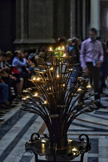 Prayer Candles Duomo Di Firenze Illuminated Indoors  Religion Night Spirituality Close-up Florence Visit Italy Italy City Travel Destinations The Best City In The World Place Of Worship Tea Light Candle History Shapes And Forms Subdued Light Candlelight Been There. Inside The Week On EyeEm