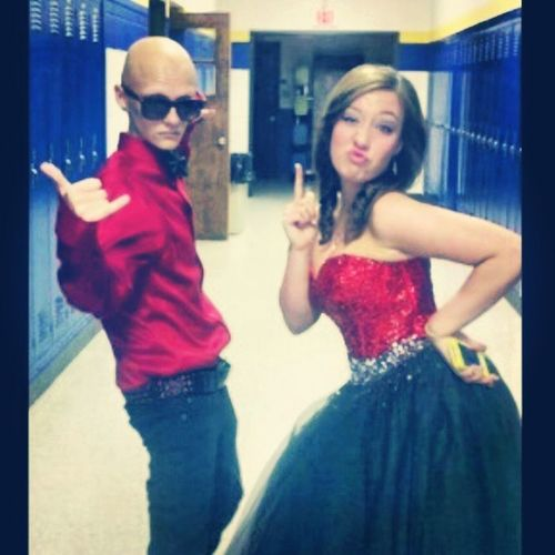 Flash Back to 8th grade prom Flashinitback Flashbackfriday FBF  Prom red and black redblack alopecia alopeciasupport alopeciaawareness support awareness nohairdontcare rockyourbald bald swag style bowtie